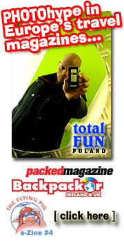 PHOTOhype in Europe's travel magazines...  Packed Magazine  Backpacker Ireland & UK  Total Fun Poland The Flying Pig e-Zine #4